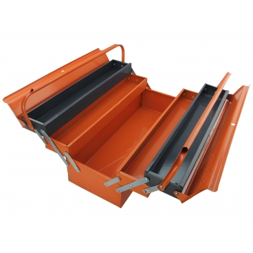 METAL TOOL BOX/5 COMPARTMENTS