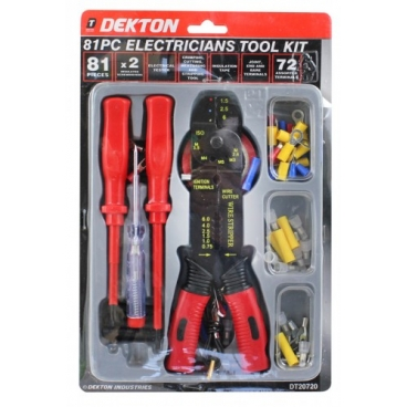 DEKTON 81PCS ELECTRICIANS TOOL KIT