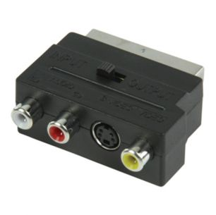 SCART MALE AV ADAPTER RCA FEMALE WITH SWITCH